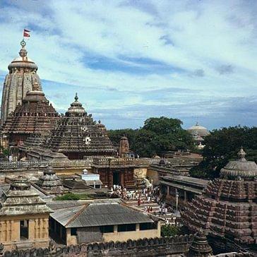 Tempel-Anlage in Jagannatha Puri, Orissa, Indien.
