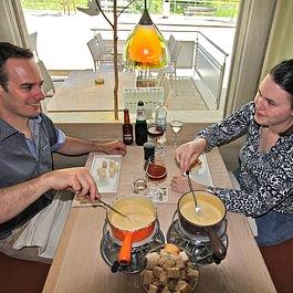 Käsefondue im Restaurant des alpes Fiesch