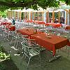 Terrasse der Cafeteria