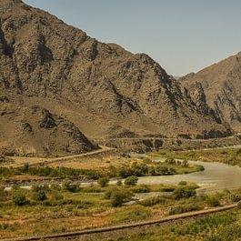 La fleuve Arax entre l'Arménie et l'Iran