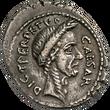 Denar, Gaius Julius Cäsars Ermordung (44 v. Chr.)