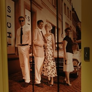 Fototapete auf Aufzug