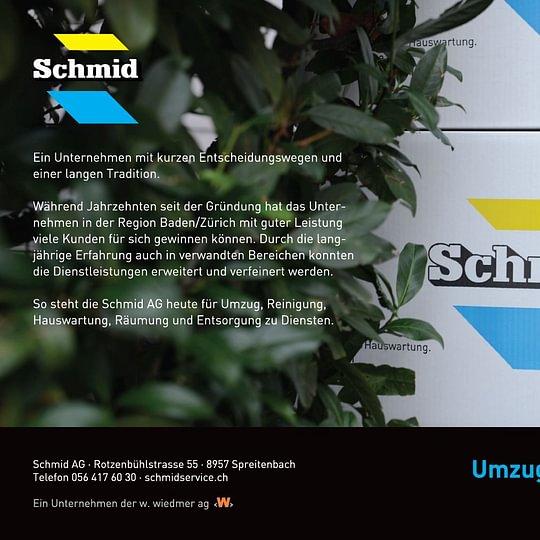 Schmid AG Umzug. Reinigung. Hauswartung.