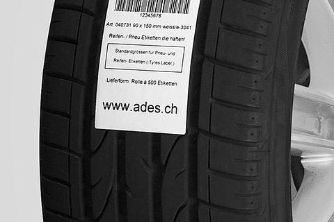 Pneu-Etiketten/Reifen-Etiketten