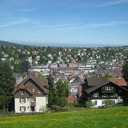 Restaurant Falkenburg, St. Gallen - Aussicht von der Falkenburg