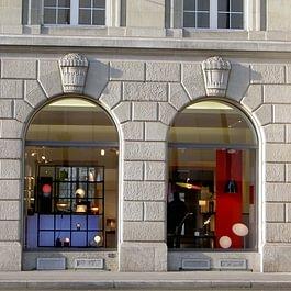Fenster in Holz-Metall mit Rundbogen