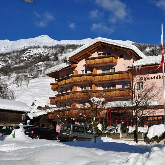 Hotel Ansicht Winter