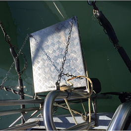 Plaque alu, ponton bateau