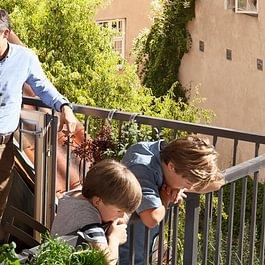 Fenêtre terrasse VELUX - balcon de toit