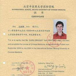 Briguet Daria - Diplôme universitaire Chinois