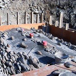 construction d'une cave à voute