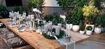 Holztisch aus gedämpfter Fichte 320x95x75cm