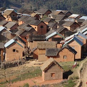 Dorf auf dem Hochland in Madagaskar