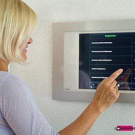 Haussteuerung bedienbar über Touchpanel