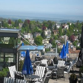 Restaurant Falkenburg, St. Gallen - Aussicht von der Sommerterasse