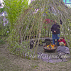 Weidenkuppel, Feuerschale, Sitzmauer