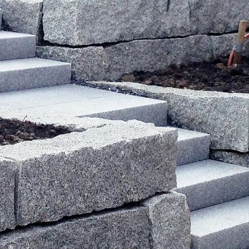 1 Quadermauer mit Treppe
