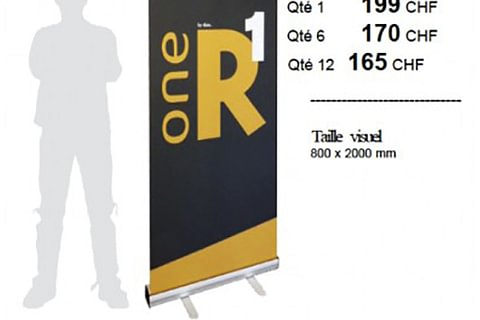 One R1 80x200cm  Roll-up low-cost sans compromis