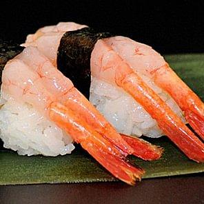 sushi nigiri crevette douce