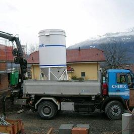 camion 18t grue 9t, transport et mise en place de matériaux de construction