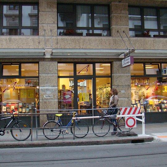 vitrine Librairie du Boulevard, Genève