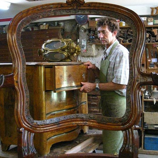François dans son atelier.