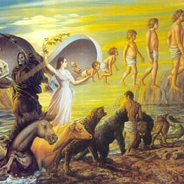 Der Kreislauf von Geburt und Tod.