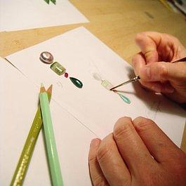 Entwürfe und Handskizzen für Ihre Schmuckwünsche