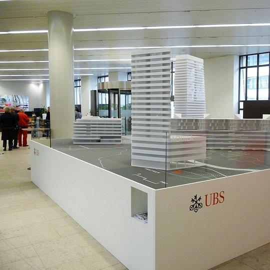 Modellpräsentation der UBS Schalterhalle