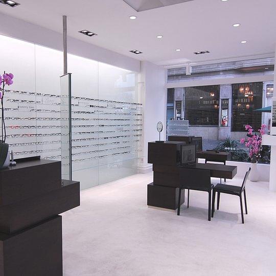 Innenansicht mit Korrekturbrillen
