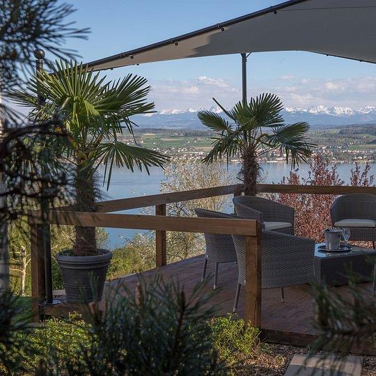 Die Lounge auf der Terrasse