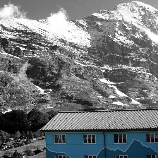 das Hostel vor der Eiger Nordwand