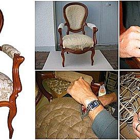 Auffrischen der Möbelstücke