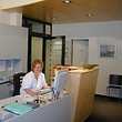 Empfang Praxis Prof. Köchli; Frau Saciri
