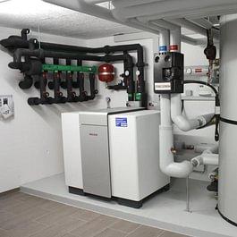 Pompe à chaleur sondes géothermiques - immeuble