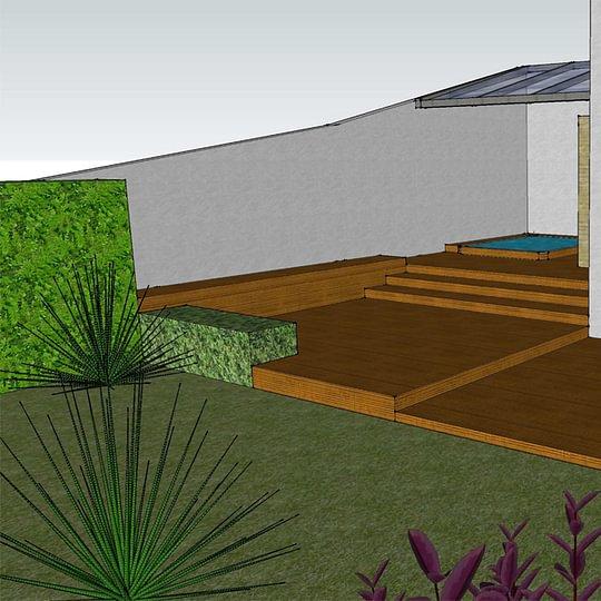 Spa et terrasse en bois
