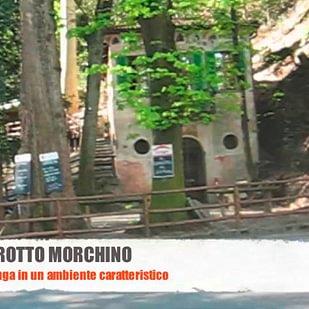 La facciata del grotto Morchino
