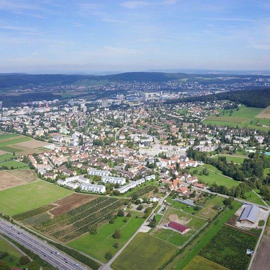Übersicht über Urdorf (Quelle: SKIVE Aviation AG)