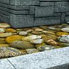 Wasserbecken, Cortenstahl, Naturstein
