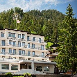 Frontansicht Parkhotel Bellevue & Spa Adelboden