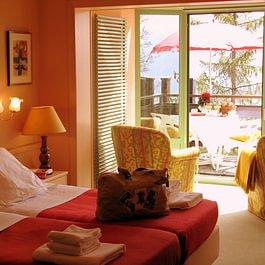 Hôtel de la Fôret - chambre au Sud avec balcon et véranda