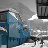 Mountain Hostel im Winter