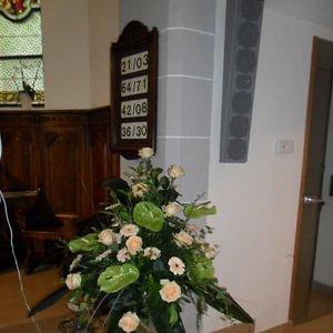 Arrangement d'église où de salle