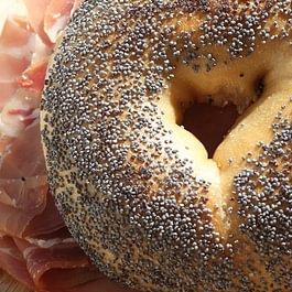 Bagel Sandwich, Mohn-Sandwich