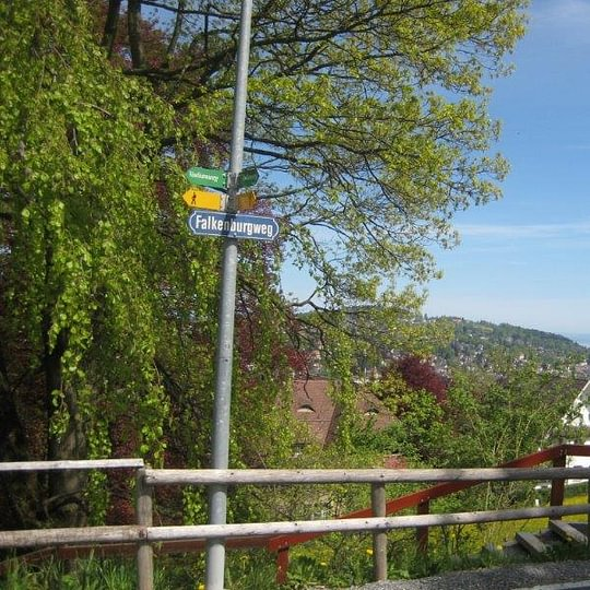 Restaurant Falkenburg, St. Gallen - Wanderweg Falkenburg