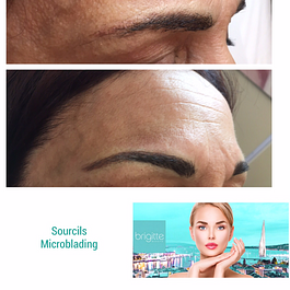 Correction de sourcils dermopigmentation