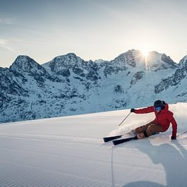 Skifahren Corvatsch Copyright by Gian Giovanoli