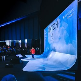 Conference [Stage design +  presentation design + full technical production]