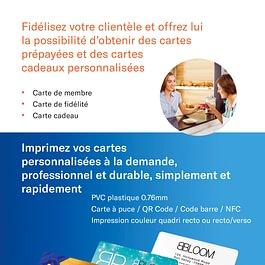 PVC plastique 0.76mm / Carte à puce / QR Code / Code barre / NFC Impression couleur quadri recto ou recto/verso