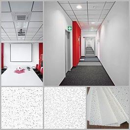 Plafond fibre minérale